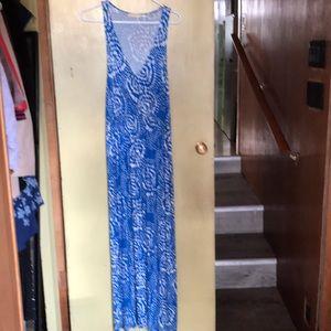 Anthropologie maxi dress. PM petite medium.